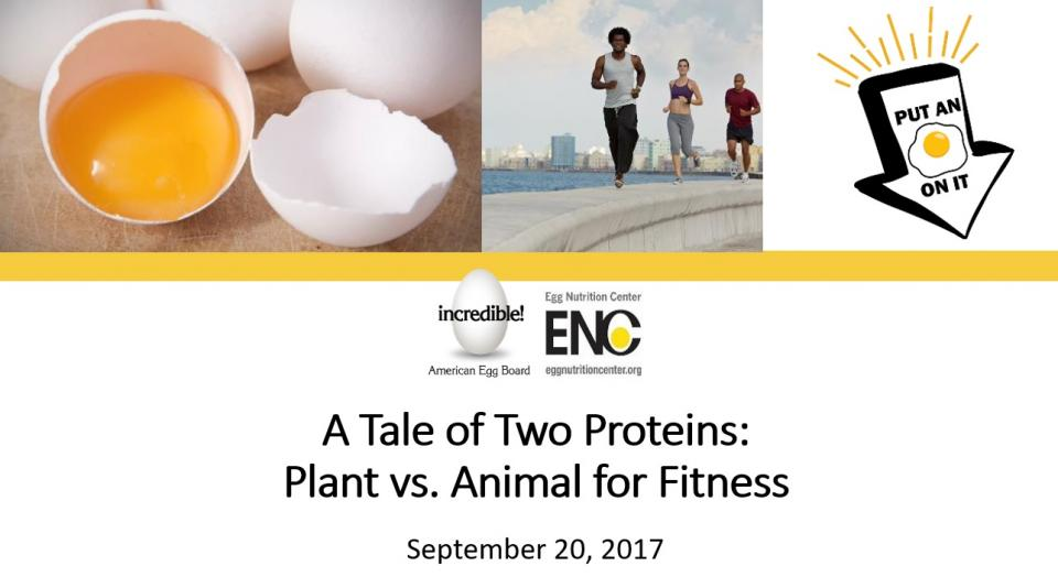 Industry Presented Webinar: A Tale of Two Proteins: Plant vs. Animal for Fitness